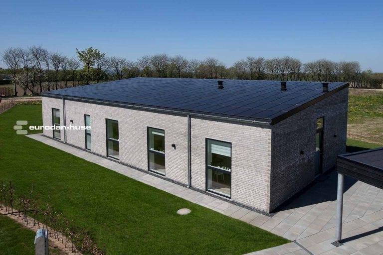 Solar roof at Eurodan in Skanderborg
