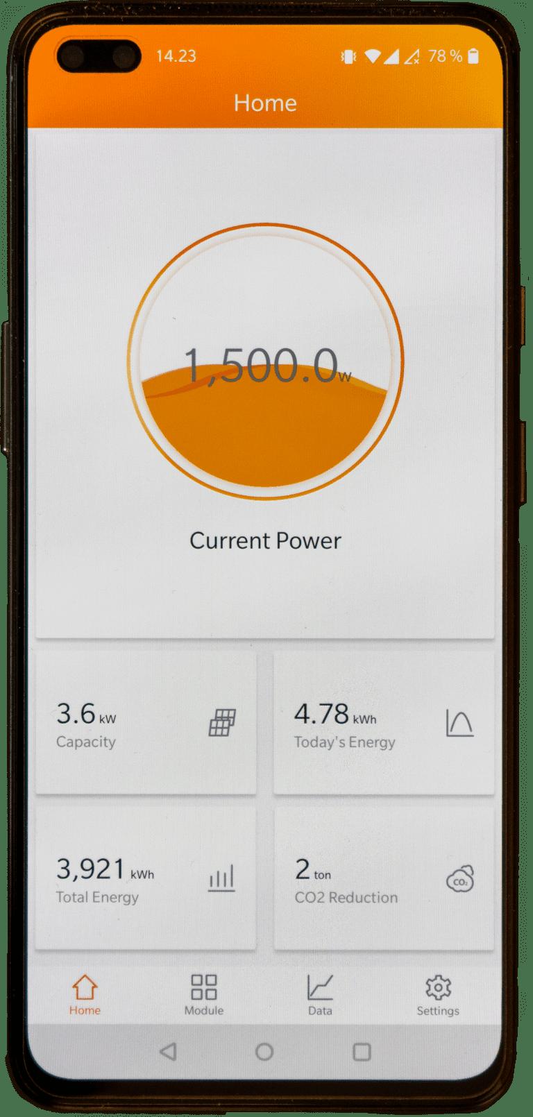EMA App zur Produktionsübersicht