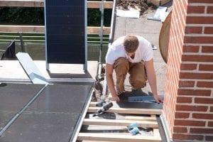 Inddækning til solcelletag